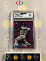 2018 Topps Chrome Luis Severino #65 Pink Refractor - 10 GEM MINT GMA Graded Card
