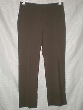 Men's Haggar Brown Flat Front Dress Slacks Size 33 W:33 H:42 R:12 I:30