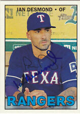 IAN DESMOND TEXAS RANGERS SIGNED 2016 CARD COLORADO ROCKIES WASHINGTON NATIONALS