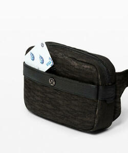 NWT Lululemon Now and Always Belt Bag Waist Jacquard Black Crossbody everywhere