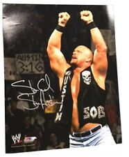 Autographed Stone Cold Steve Austin 16 x 20 Photo Print,Arms Up WWF Attitude Era