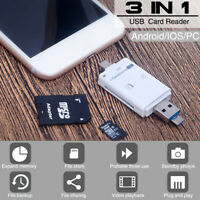 3 in 1 USB 3.0 OTG Memory Card Reader Adapter For Apple Micro SD SDXC TF T-Flash