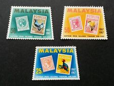 Malaysia Stamp Centenary 1967 Birds Fauna (stamp) MNH *odd shape *unusual
