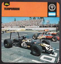 TEMPORADA Argentina Car Race Track Circuit HISTORY CARD