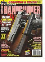 AMERICAN HANDGUNNER, NOVEMBER / DECEMBER, 2013 (RUGER CUSTOM COMBO ! .22 /45 ACP
