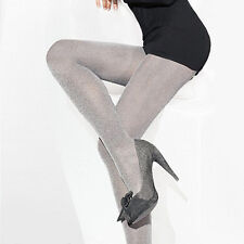 "Silver Grey Opaque Tights Melange ""Rachel"" 50 Denier"