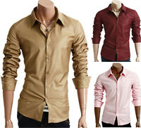 New Men's Designer Soft Shinning Fabric Slim Fit Dress Casual Shirts Collection