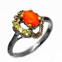Fine Art Jewellery Natural Gemstone Carnelian .925 Sterling Silver Ring / RVS261