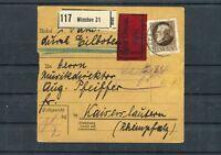 Eilboten Paketkarte Bayern 1 M EF München-Kaiserslautern - b6112