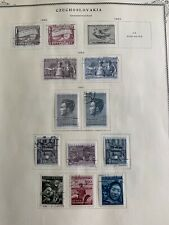 TCStamps 12 Pages 1950-54 CZECHOSLOVAKIA Postage Stamps Quality Scott Album #532