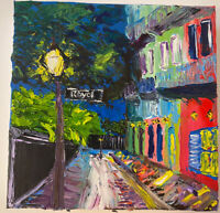 New Orleans Oil On Canvas Original 8 X 8 Inch Impasto Impressionism