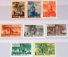 RUSSIA SOWJETUNION 1950 1527-34 1518-25 Moskauer Hochbauten Skyscrapers MNH