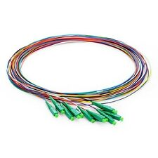 1M 12 Fibers LC/APC Single-Mode Color-Coded Fiber Optic Pigtail, Unjacket - 0636