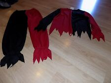 Child Size Medium California Costume Evil Jester Clown Red Black Halloween EUC