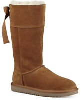 Koolaburra by UGG Women's Andrah Suede & Faux Fur Boots Chestnut