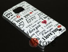 Cover Custodia Per Galaxy S2 i9100 Case Rigida I Love You