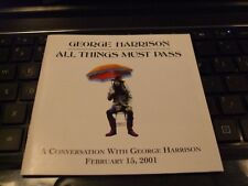 George Harrison All Things Must Pass PROMO INTERVIEW 2001 CD NEW!  The Beatles