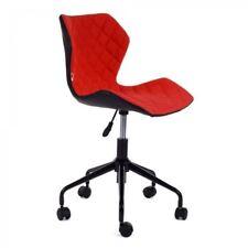 fauteuil chaise de bureau MY SIT roulettes réglable rouge/noir tissu ergonomique