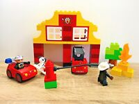 LEGO Duplo My First Fire Station Truck Car Dog Firemen Hydrant Flame Set