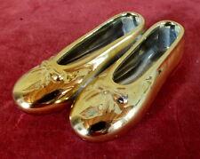 ballerine dorati in ceramica scarpe scarpe collection gold ceramic shoes