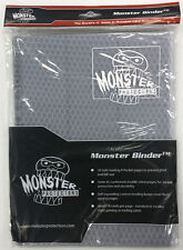HOLOFOIL WHITE/CLEAR Monster Binder Side-Loading 9-Pocket Card Album/Portfolio