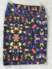 NWOT Lularoe Cassie Skirt *UNICORN* Multicolor Feather Fall Print Size L
