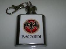 Bacardi Rum Hip Flask 1oz key ring Barware gift