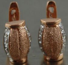 Russian Real 585 14 k rose gold earrings 5.6 gr USA seller
