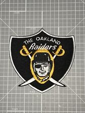 """OAKLAND RAIDERS JERSEY PATCH 1960 AFL GOLD & BLACK SHIELD """"RAIDER ROOTER"""" NEW!"""