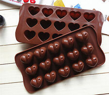 Heart love Valentine's day Fondant Cake ice Cube Silicone Mold Mould Decorating