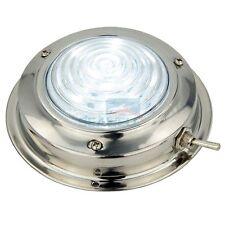 """12V 4.5"""" Stainless Steel LED Dome Light Cool White Boat RV Interior Light"""