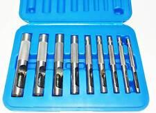 Fermec Set 9 fustelle 3-12mm punzoni per cuoio, pelle con valigia BGS 565
