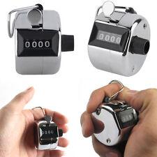 4 Stellig Schrittzähler Handzähler Click Tally Counter Klicker Stückzähler Lap