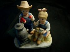 "Home Interiors Denim days Porcelain Figurine ""Autumn Evening""-#1517-1985"