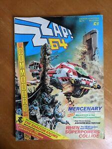 Vintage Original ZZAP 64 Commodore Magazine Issue 11 March 1986