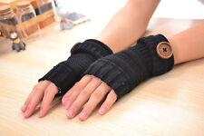 Handschuhe Armstulpen Pulswärmer Handstulpen Strick Pelz Fingerlos Lang Gloves