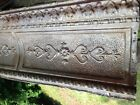"""Antique TIN CEILING CROWN MOLDING appx.15.5"""" by 49"""""""