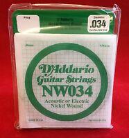 D´Addario Gitarrensaiten NW034 für akustische oder elektrische Gitarre - 5 Stück