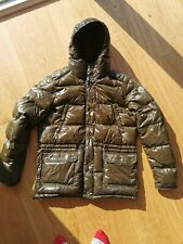 Moncler 'Hollywood' Reversible Down Jacket - Size 4 - Khaki/Brown RRP £975