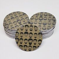 COASTERS-Bearded Hipster Dapper Moustache Barbershop Drink-18-4 Packs -72 Total