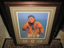 """""""Luck of the Angler"""" Framed & Matted Print By JF Kernan w/ Conservation Stamps"""