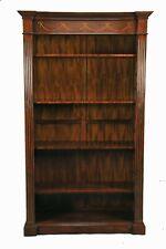 Mahogany Wood Large Single Bookcase With Adjustable Shelves