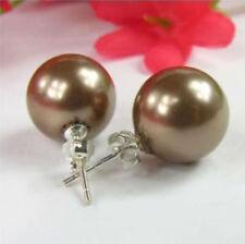 Sea Shell Pearl Earrings Beautiful! Charming 14mm Aa South