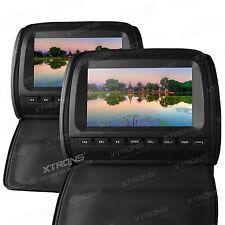 Xtrons  2x 9 Zoll Kopfstütze Auto DVD Player Digital Screen LCD Monitor Schwarz