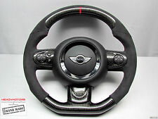 Mini CooperS R56 R61 JCW Flat Bottom Small Thick ALCANTARA CARBON Steering WHEEL