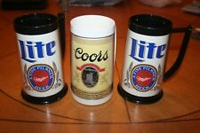 Miller Lite/Coors Insulated Beer Mugs (Royal Crest/ThermaServe)