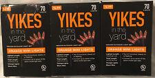 Halloween string lights - indoor/outdoor - orange bulbs - 3 boxes of 70 - NIB