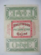 Original 1936 Hollywood Picture Star Gum Trading Cards Wax Wrapper
