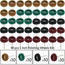 40pcs 25mm Abrasive Wheel Buffing Polishing Pad Kit Grinding Dremel Rotary Tool