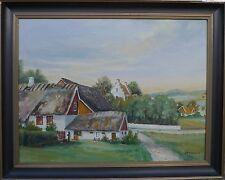 Sten obstinada Sandgren (XX) soleado Distrito aldea paisaje/óleo del norte de Alemania
